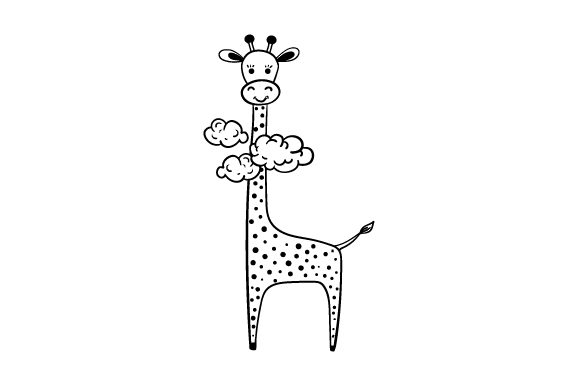 Download Free Giraffe In Clouds Svg Cut File By Creative Fabrica Crafts for Cricut Explore, Silhouette and other cutting machines.