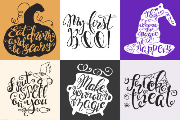 Halloween Quotes SVG Cut Files Graphic Crafts By EvgeniiasArt - Image 2