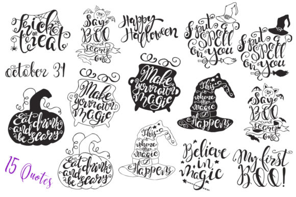 Halloween Quotes SVG Cut Files Graphic Crafts By EvgeniiasArt - Image 4