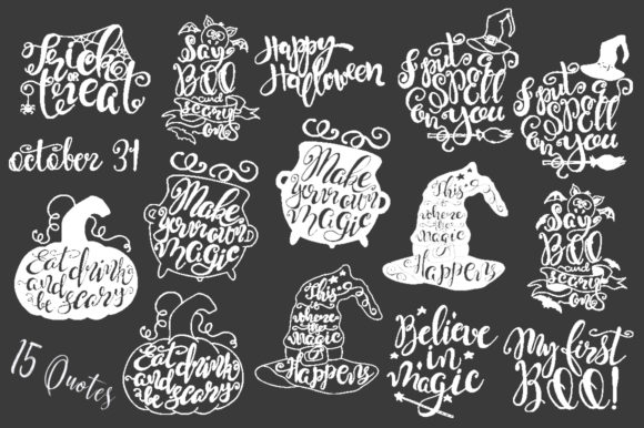 Halloween Quotes SVG Cut Files Graphic Crafts By EvgeniiasArt - Image 5