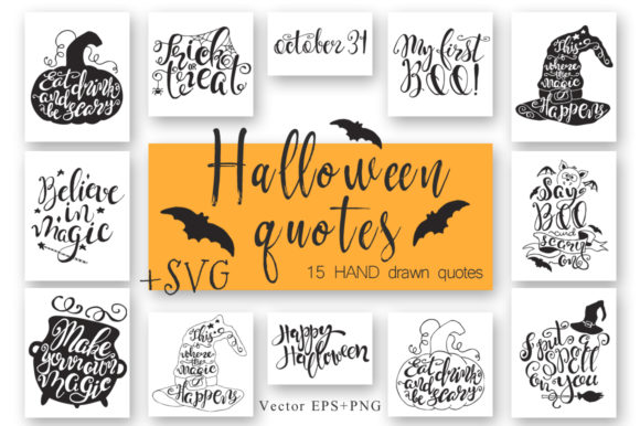 Halloween Quotes SVG Cut Files Graphic Crafts By EvgeniiasArt - Image 1