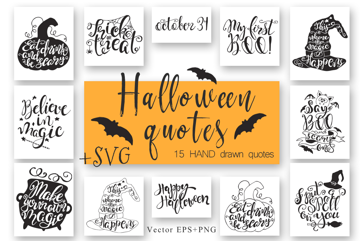 Download Free Halloween Quotes Cut Files Graphic By Evgeniiasart Creative for Cricut Explore, Silhouette and other cutting machines.