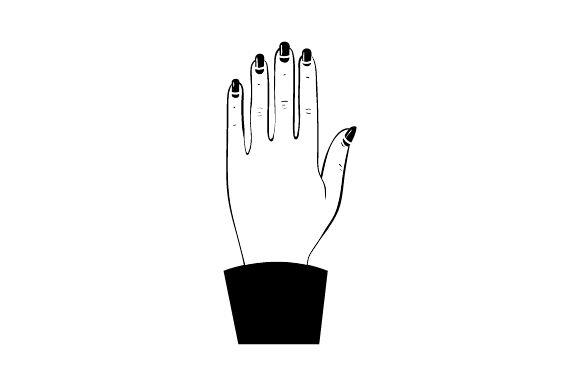Hand with Nice Manicure Craft Design By Creative Fabrica Crafts