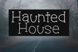 Haunted House Font By KA Designs