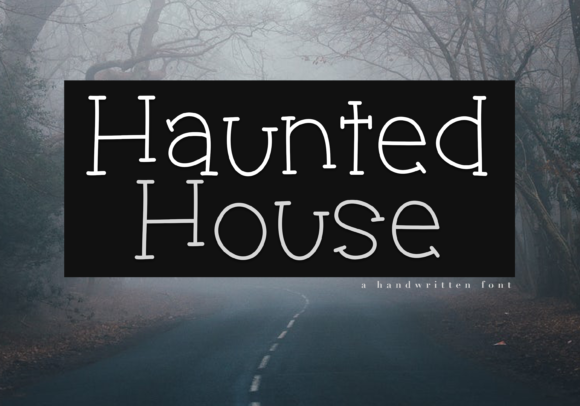 Print on Demand: Haunted House Display Font By KA Designs