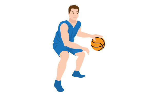Download Free Male Basketball Dribbling Svg Cut File By Creative Fabrica for Cricut Explore, Silhouette and other cutting machines.