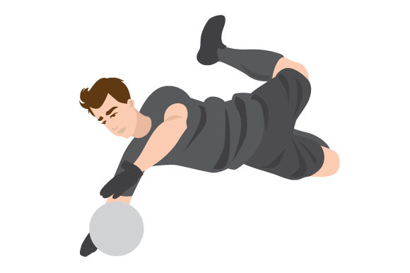 Download Free Male Soccer Goalkeeper Diving Svg Cut File By Creative Fabrica for Cricut Explore, Silhouette and other cutting machines.