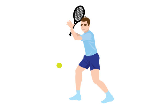 Download Free Male Tennis Backhand Swing Svg Cut File By Creative Fabrica for Cricut Explore, Silhouette and other cutting machines.