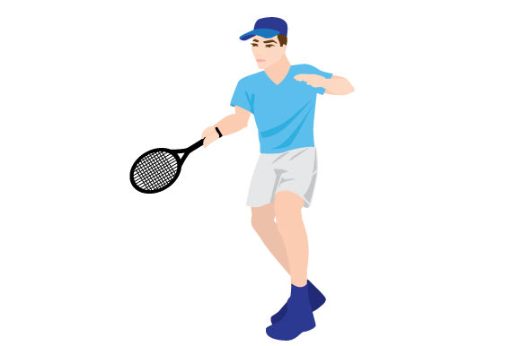 Download Free Male Tennis Forehand Swing Svg Cut File By Creative Fabrica for Cricut Explore, Silhouette and other cutting machines.