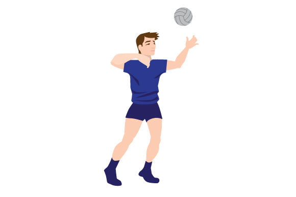 Download Free Male Volleyball Serve Svg Cut File By Creative Fabrica Crafts for Cricut Explore, Silhouette and other cutting machines.