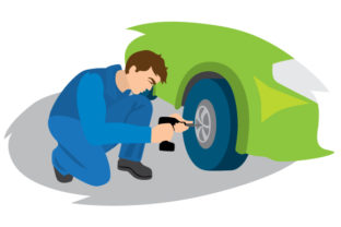 Mechanic Changing Tire Craft Design By Creative Fabrica Crafts
