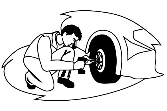 Mechanic Changing Tire Garage Craft Cut File By Creative Fabrica Crafts - Image 2