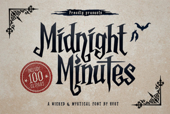 Print on Demand: Midnight Minutes Display Font By RVST