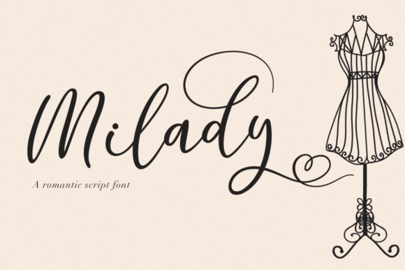 Print on Demand: Milady Script & Handwritten Font By Pasha Larin