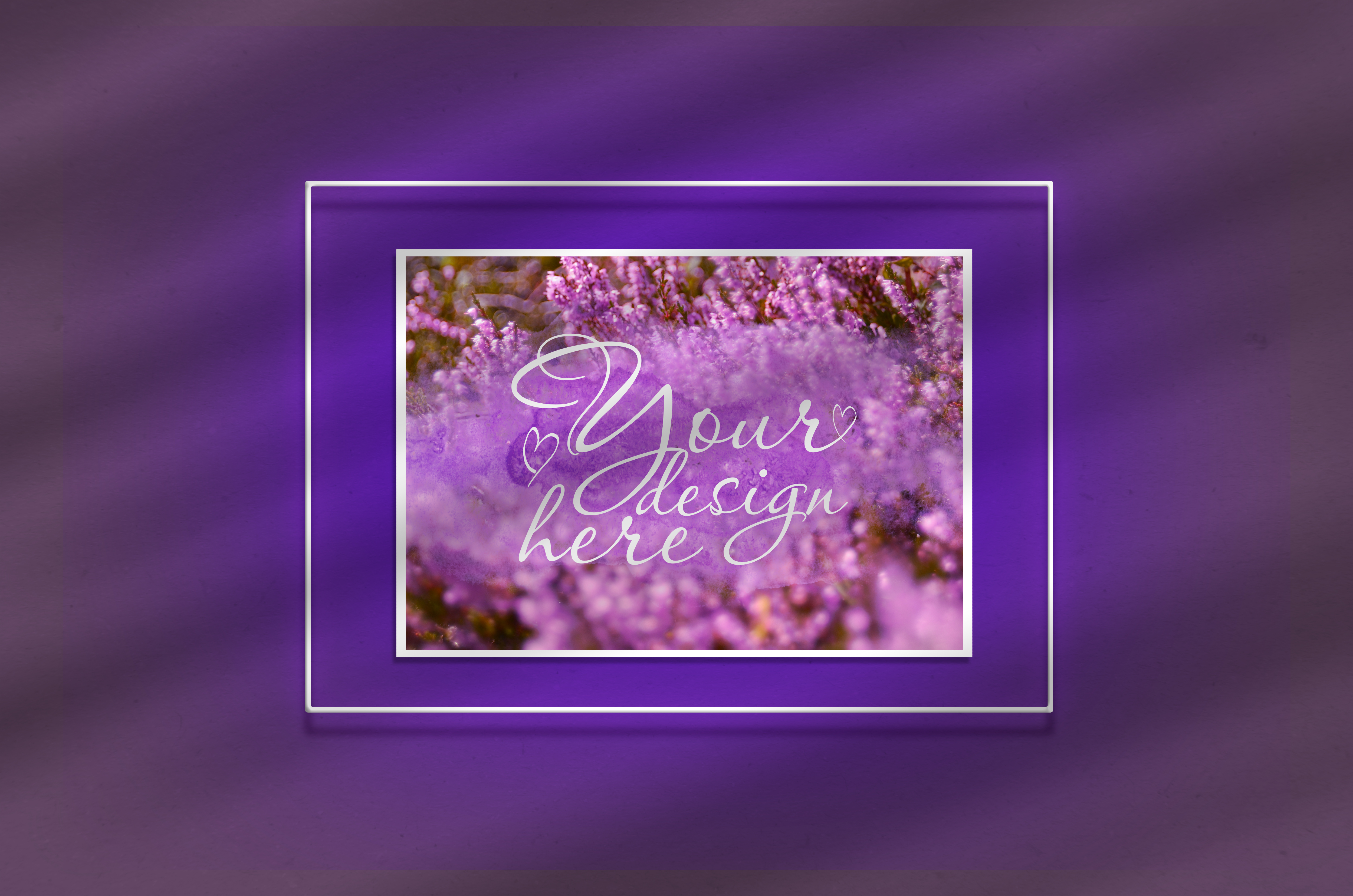 Download Free Mock Up Poster In A Neon Frame Graphic By Natalia Arkusha for Cricut Explore, Silhouette and other cutting machines.