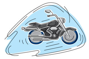 Motorcycle in Abstact Print Art Style Craft Design By Creative Fabrica Crafts
