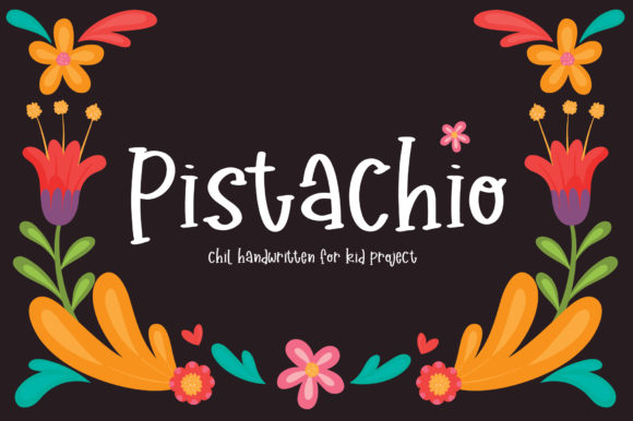 Print on Demand: Pistachio Script & Handwritten Font By PaulaType