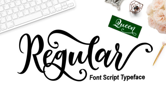 Print on Demand: Regular Queen Script & Handwritten Font By YanIndesign