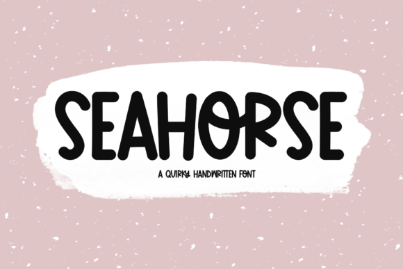 Print on Demand: Seahorse Display Font By KA Designs