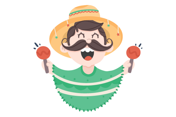 Download Free Mexican Guy With Poncho Creative Fabrica for Cricut Explore, Silhouette and other cutting machines.