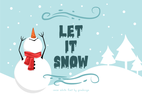 Print on Demand: Snow White Display Font By geadesign - Image 3