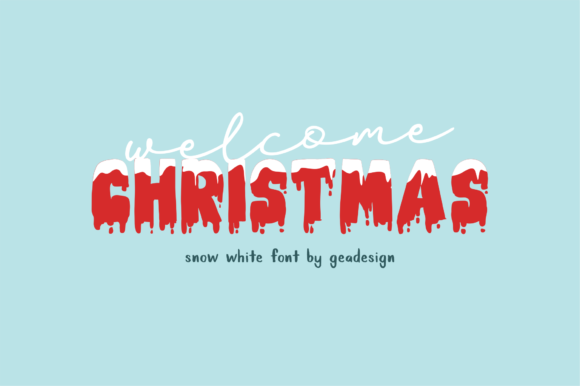 Print on Demand: Snow White Display Font By geadesign - Image 4
