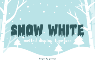 Snow White Font By geadesign