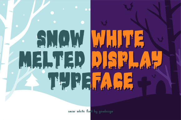 Print on Demand: Snow White Display Font By geadesign - Image 5