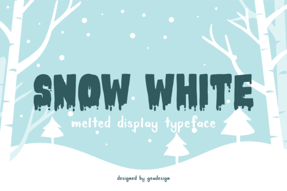 Print on Demand: Snow White Display Font By geadesign - Image 1