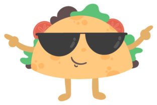 Taco with Sunglasses Craft Design By Creative Fabrica Crafts