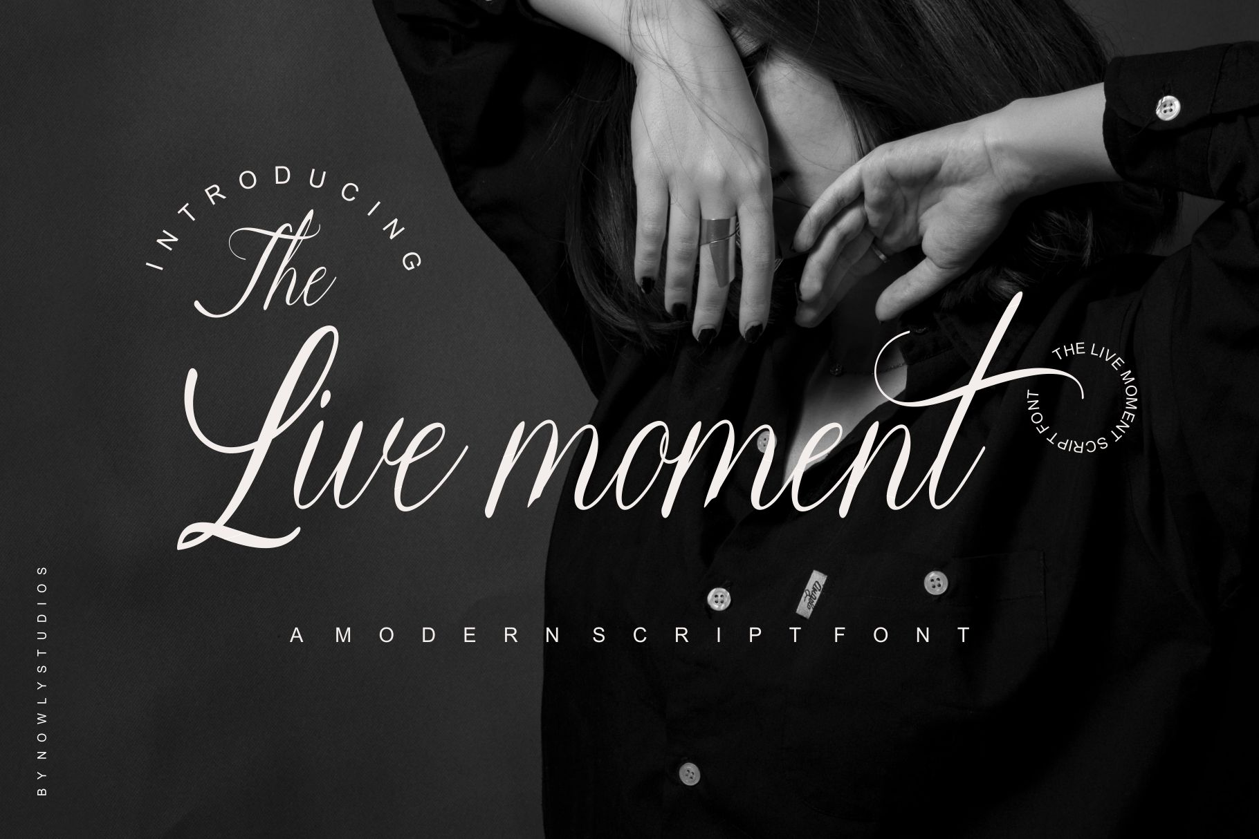 Download Free The Live Moment Font By Nowlystudios Creative Fabrica for Cricut Explore, Silhouette and other cutting machines.