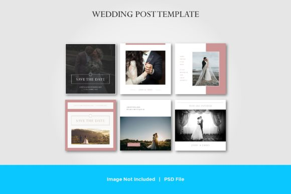 Wedding Social Media Post Template Vol.5 Graphic Graphic Templates By suedanstock - Image 1