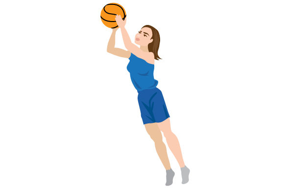 Download Free Woman Basketball Jumpshot Svg Cut File By Creative Fabrica for Cricut Explore, Silhouette and other cutting machines.
