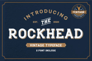 Rockhead Display Font By Typestory