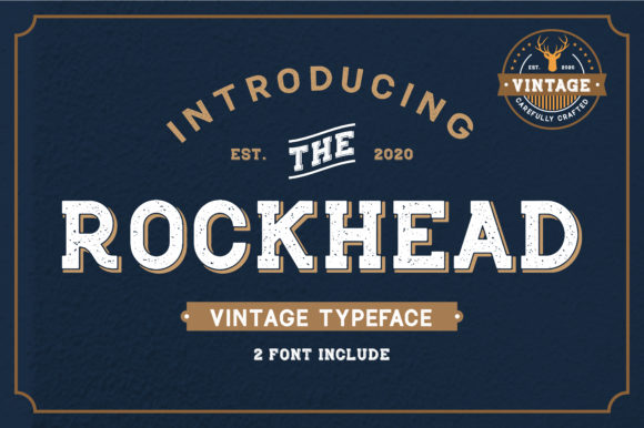 Print on Demand: Rockhead Display Font By Typestory