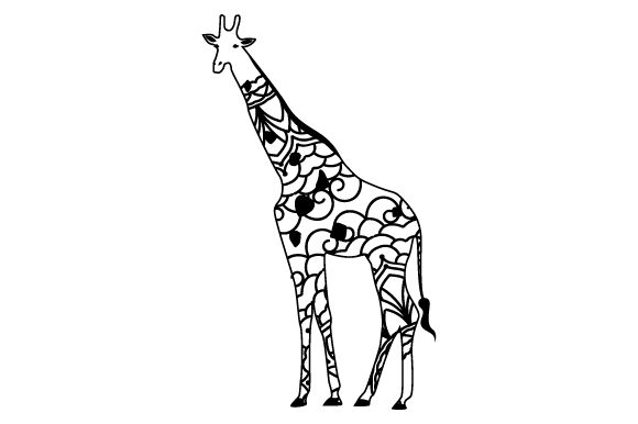 Download Free Giraffe Mandala Style Svg Cut File By Creative Fabrica Crafts for Cricut Explore, Silhouette and other cutting machines.