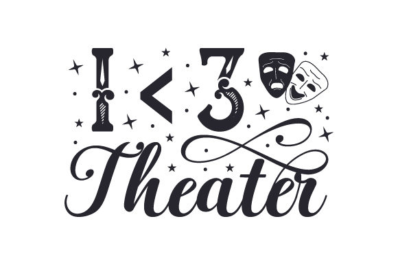 Download Free I 3 Theater Svg Cut File By Creative Fabrica Crafts Creative for Cricut Explore, Silhouette and other cutting machines.