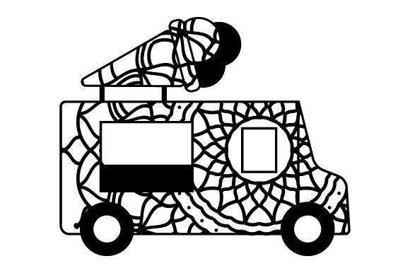 Download Free Ice Cream Truck Mandala Style Svg Cut File By Creative Fabrica for Cricut Explore, Silhouette and other cutting machines.