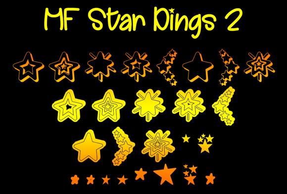 Print on Demand: MF Star Dings 2 Dingbats Font By Misti