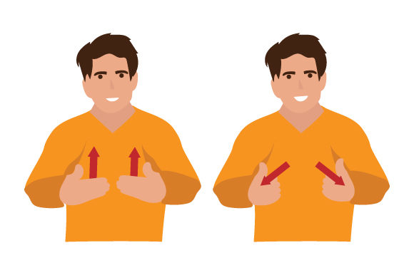 Man Saying How Are You in British Sign Language (BSL) Craft Design By Creative Fabrica Crafts