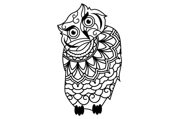 Download Free Owl Mandala Style Svg Cut File By Creative Fabrica Crafts for Cricut Explore, Silhouette and other cutting machines.