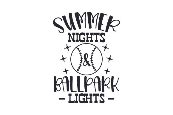 Download Free Summer Nights Ballpark Lights Svg Cut File By Creative Fabrica for Cricut Explore, Silhouette and other cutting machines.