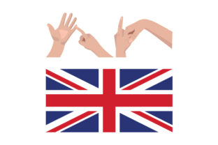 UK in British Sign Language with UK Flag UK Designs Craft Cut File By Creative Fabrica Crafts