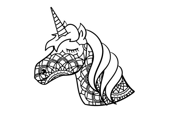 Download Free Unicorn Mandala Style Svg Cut File By Creative Fabrica Crafts for Cricut Explore, Silhouette and other cutting machines.