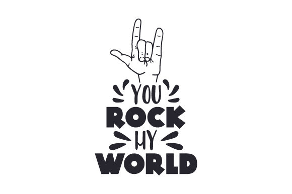 You Rock My World Música Archivo de Corte Craft Por Creative Fabrica Crafts