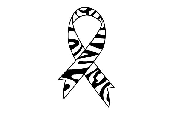 Zebra Awareness Ribbon Svg Cut File By Creative Fabrica Crafts