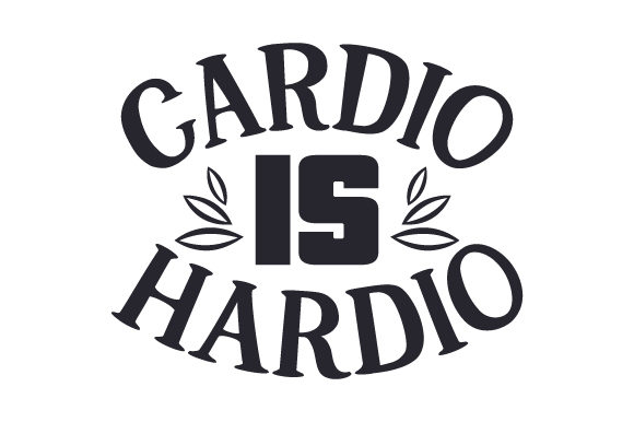 Cardio is Hardio Sports Craft Cut File By Creative Fabrica Crafts - Image 1