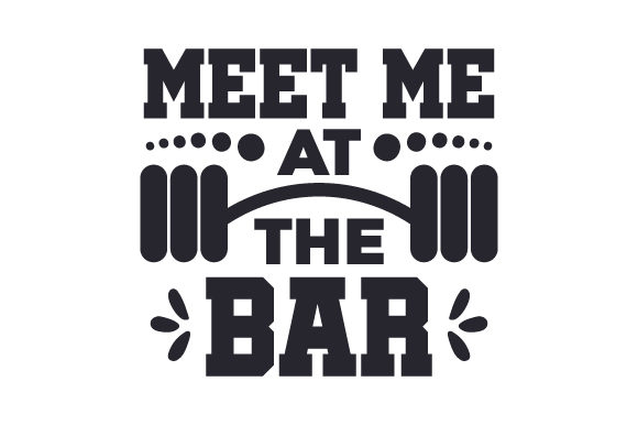 Meet Me at the Bar Sports Craft Cut File By Creative Fabrica Crafts - Image 1