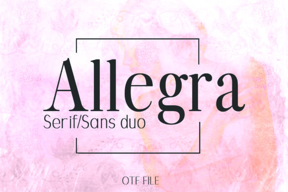 Print on Demand: Allegra Duo Serif Font By denestudios