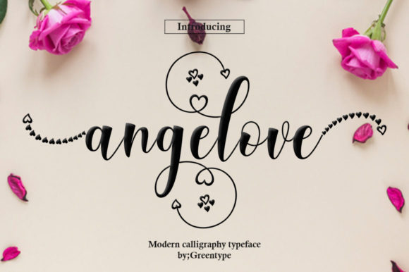 Print on Demand: Angelove Script & Handwritten Font By Greentype